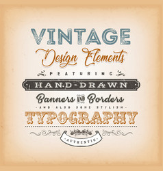 Vintage label sign vector