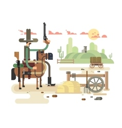 Wild west saloon vector image