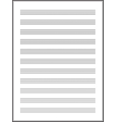 a note paper for musical notes vector image vector image