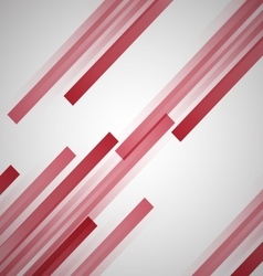 Abstract background with red straight lines vector image