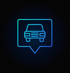 blue car in square pointer vector image
