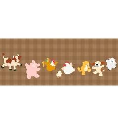 Farm critters set vector image