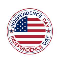 independence day round banner vector image vector image