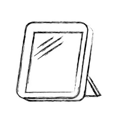 monochrome blurred silhouette of photo frame vector image vector image