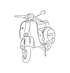 Outline of scooter vector image vector image