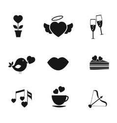 Set of love and romance icons vector image