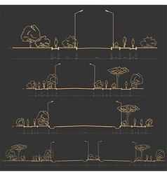 Set of road cross-sections vector
