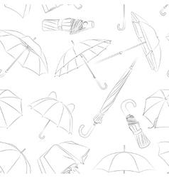 Hand drawn umbrellas pattern vector image vector image