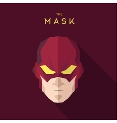 Mask hero into flat style graphics art vector image