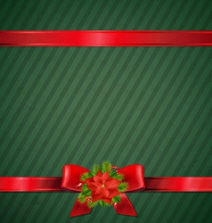 Retro Green Christmas Wallpaper vector image vector image