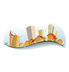abstract city - winter vector image vector image