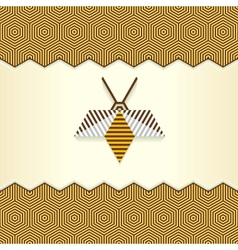 Abstract Geometrical Bee vector image