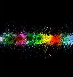 Color paint splashes vector