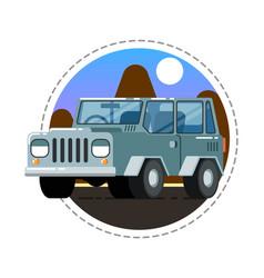 grey offroad truck icon vector image vector image