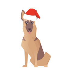 newyear happy dog icon christmas cartoon vector image