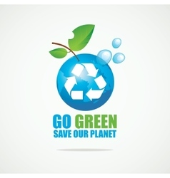 Planet Earth with Recycling sign vector image