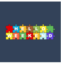 puzzle hello summer vector image vector image