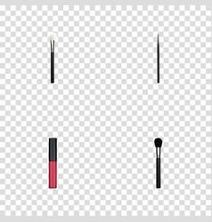 realistic cosmetic stick liquid lipstick beauty vector image