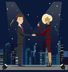 businessmen deal business handshake greeting vector image