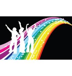disco dancers vector image vector image