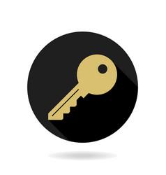 fine key flat icon vector image vector image