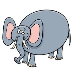 funny elephant animal cartoon character vector image vector image