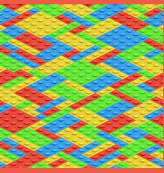 plastic building blocks 3d bricks seamless vector image