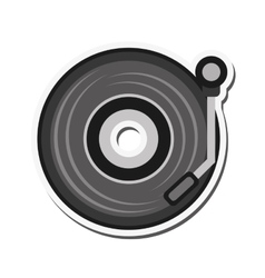 small turntable icon vector image vector image