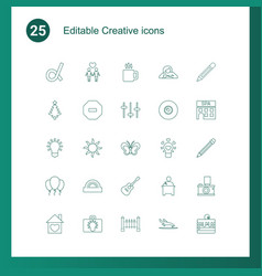 25 creative icons vector