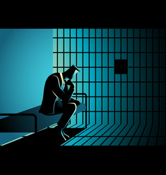 A businessman in jail vector