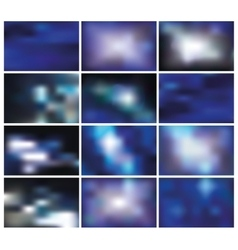 Abstract blurred backgroundsBluespace vector image