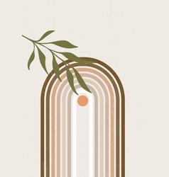 abstract sun print boho minimalist printable wall vector image