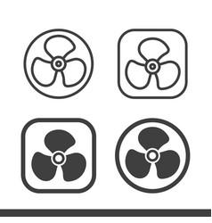 air fan turbine icons vector image