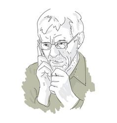 an elderly man talking vector image