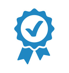 approved accept or certified icon medal with vector image
