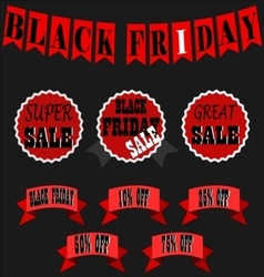 Black Friday Sale Banner Set - Black Friday Sale vector image