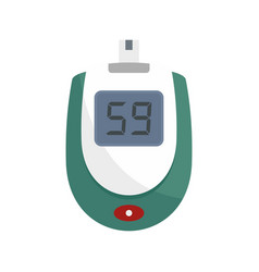 Blood glucose level icon flat style vector