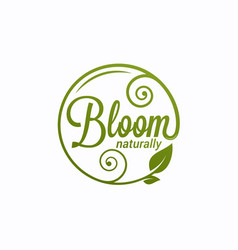 Bloom logo round linear logo bloom vector
