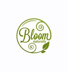 Bloom logo round linear logo vector