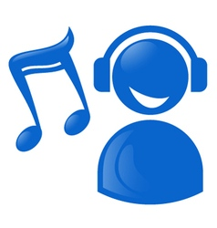 Blue musical icon vector image
