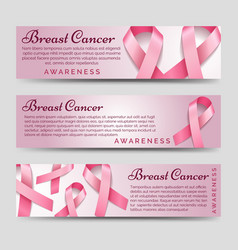 Breast cancer awareness banners vector image