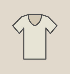 Brown t-shirt symbol or icon vector
