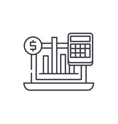 business indicators line icon concept business vector image