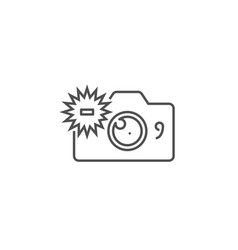 Camera related line icon vector