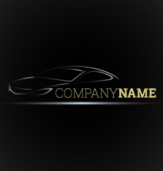 Car emblem for businesses vector image