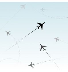 Commercial airline vector