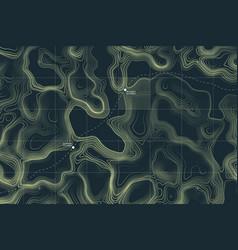 conceptual alien terrain topographic map vector image