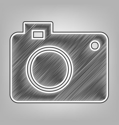 digital camera sign pencil sketch vector image