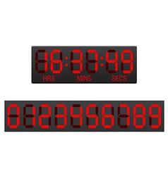 Digital countdown timer 01 vector