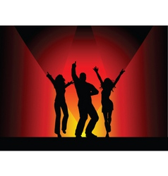disco dancers vector image